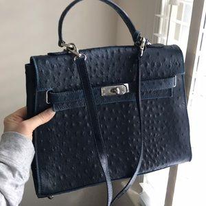 Handbags - Leather birkin-style bag, Italian leather